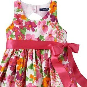 Chaps Floral Spring Easter Ribbon Dress